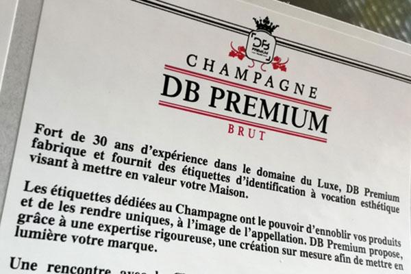 Contre étiquette champagne