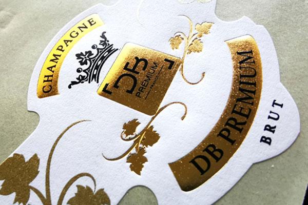 étiquette collerette champagne