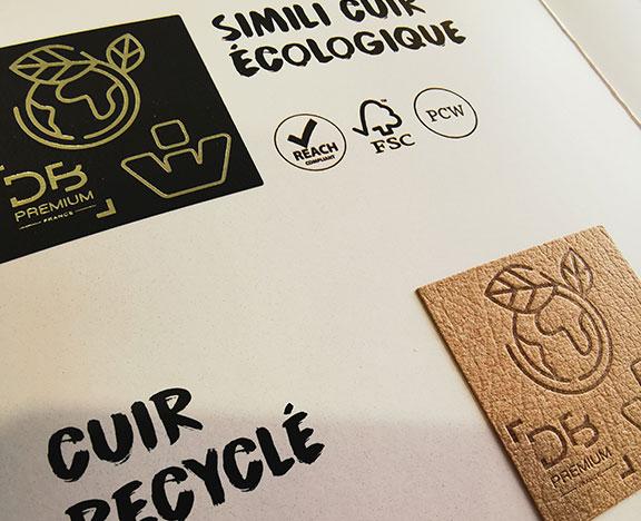 étiquette cuir écologique
