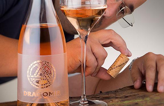 étiquette vin no label look